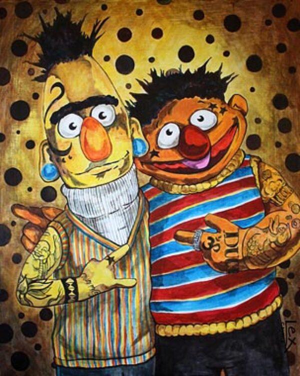 Bert & Ernie Bound By Ink
