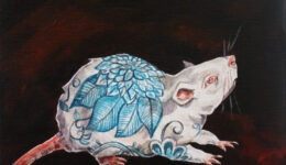 Porcelain Mouse china blue painting lex covato Full