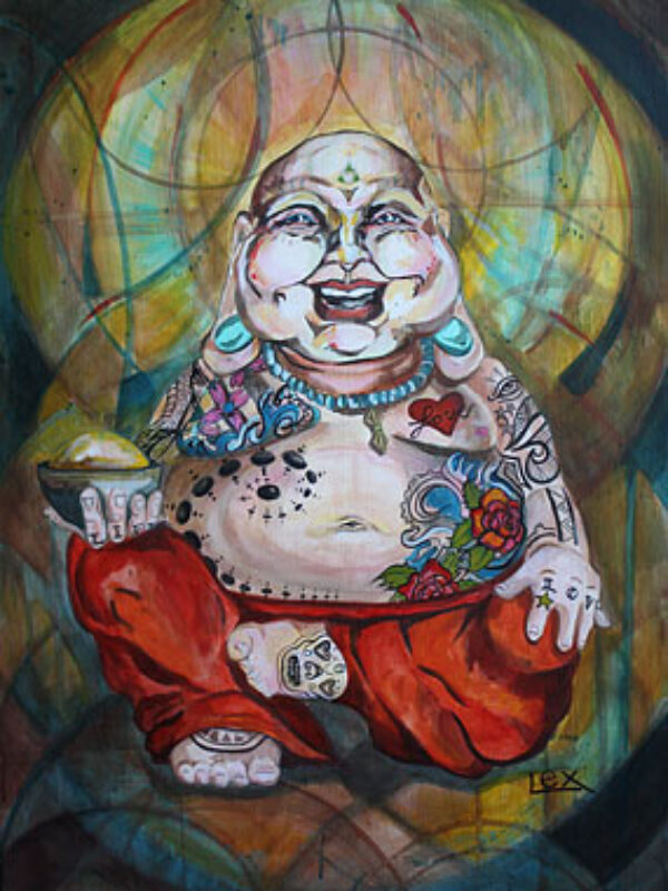 Tattooed Happy Buddha