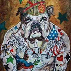 Tattooed Marine Dog