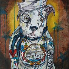 Tattooed Sailor Dog