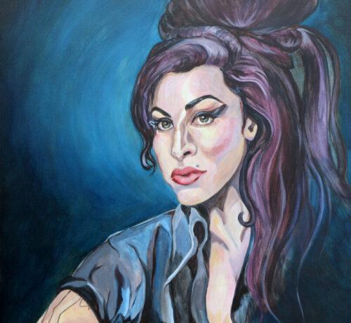 Amy winehouse full 16x20 canvas print lex covato